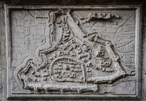 Fototapeta antica mappa di padova