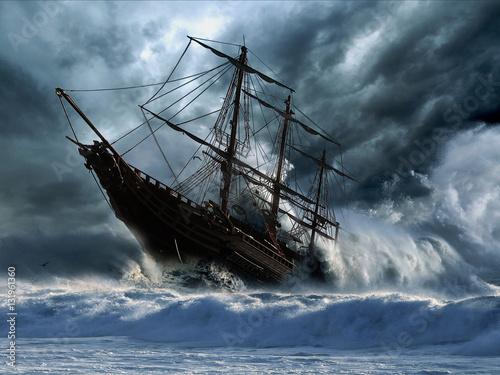 Wallpaper Mural Ship Wreck