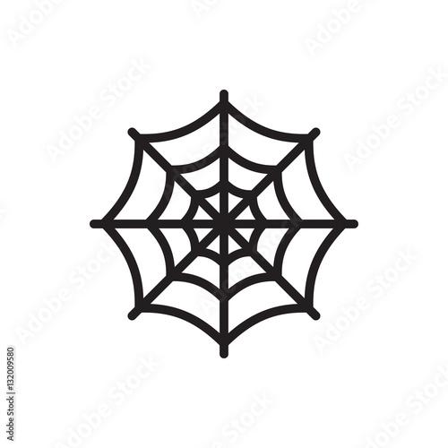 spider web icon illustration Fototapeta
