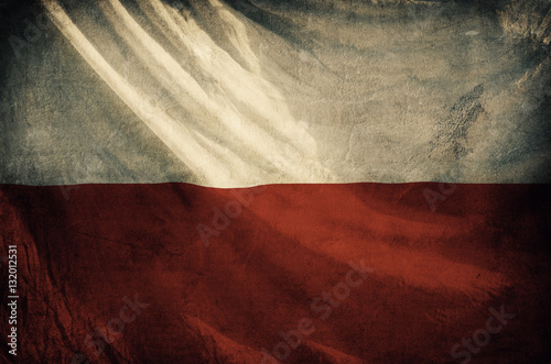 Wallpaper Mural Poland flag ,grunge and retro flag series