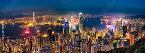 Canvas Print 香港の夜景