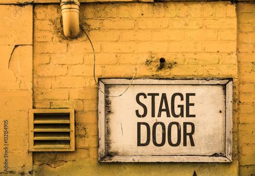 Grungy Stage Door Sign