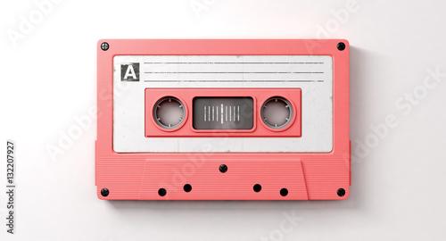 Fotografie, Obraz Pink Cassette Mix Tape