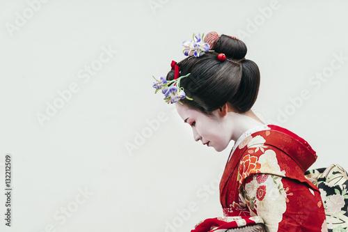 Valokuva Portrait of Maiko geisha in Gion, Kyoto, Japan