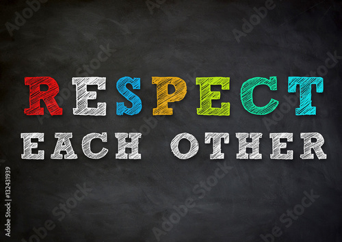 Canvas Print respect each other