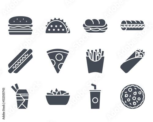 Fototapeta Fast Food Icon Silhouette