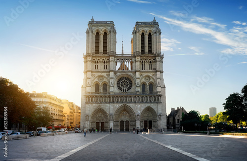 Fototapeta Facade of Notre Dame