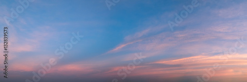 Valokuvatapetti Vibrant panoramic sky on twilight time.