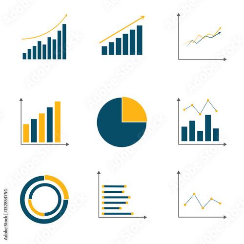Obraz na płótnie graph set