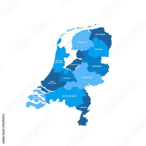 Photo Netherlands Regions Map