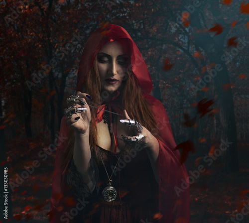 Fotografia Sorceress in the forest