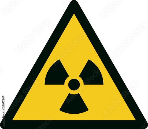 Stampa su Tela ISO 7010 W003 Warning; Radioactive material or ionizing radiation