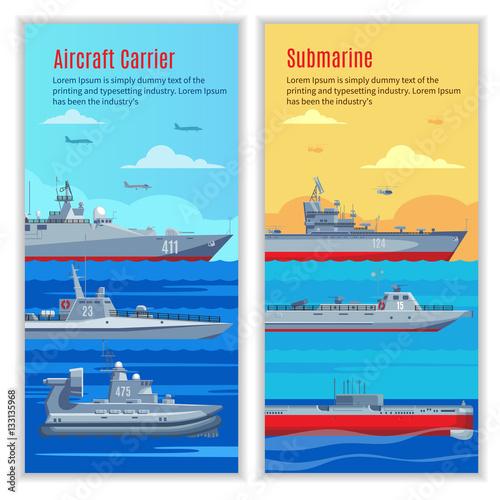Wallpaper Mural Military Ships Vertical Banners
