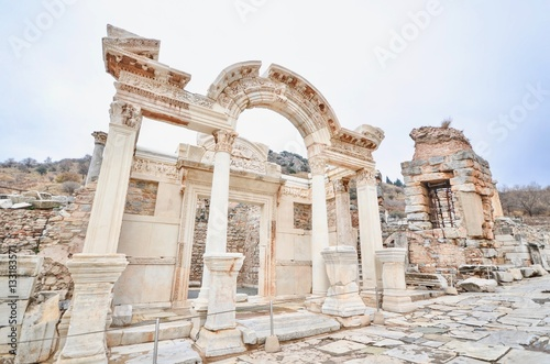 Valokuva Temple of Hadrian in the Historical Site of Ephesus in Turkey