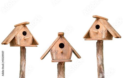 Bird houses isolated Fototapeta