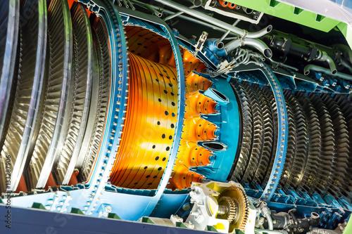 Wallpaper Mural Jet engine inside.