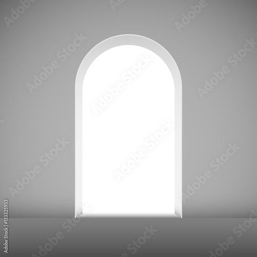 Billede på lærred Abstract archway to the light vector template.