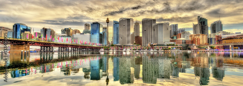 Skyline of Sydney at Cockle Bay - Australia