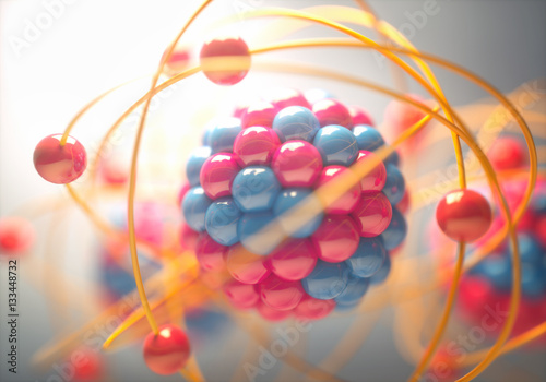 Photographie Atom, the smallest constituent unit of ordinary matter that has the properties of a chemical element