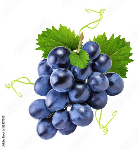 Valokuva grapes isolated on the white