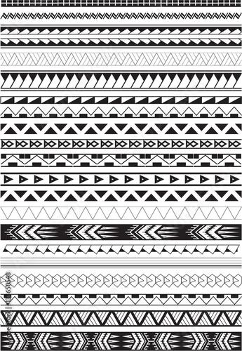 Canvas Print Maori brushes set