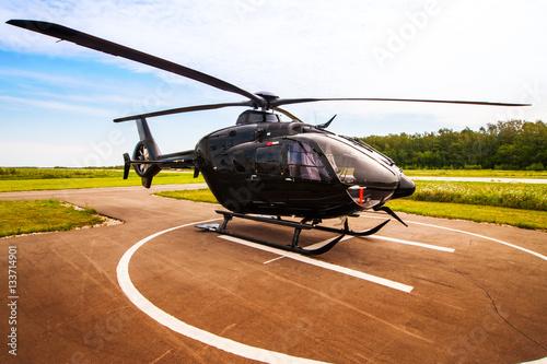 Carta da parati Black helicopter