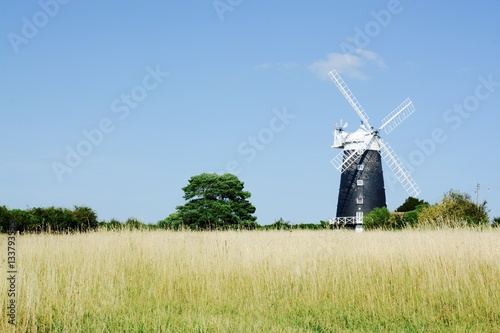 Canvas Print The tower Windmill, built in 1816 was used as a corn ill until damaged by a stor