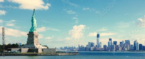 Panorama na Manhattanie w Nowym Jorku