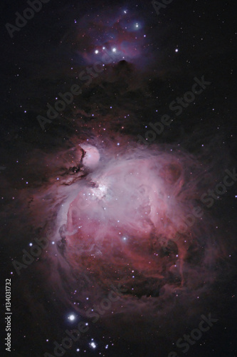 Deep-sky astrophotography nebula through a telescope