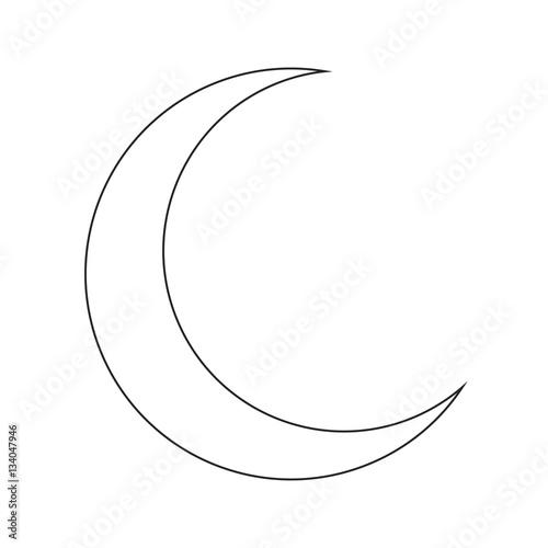 crescent moon silhouette vector symbol icon design. Tapéta, Fotótapéta