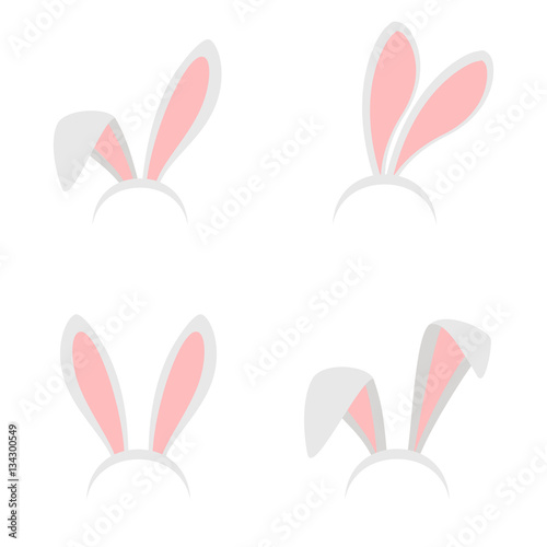 Obraz na plátně Easter bunny ears mask vector illustration