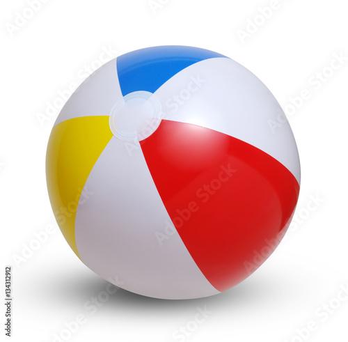 Fototapeta Beach ball on a white