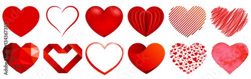 Tablou Canvas Herz Sammlung - heart collection