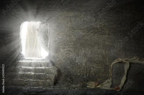 Carta da parati Jesus Leaving Empty Tomb