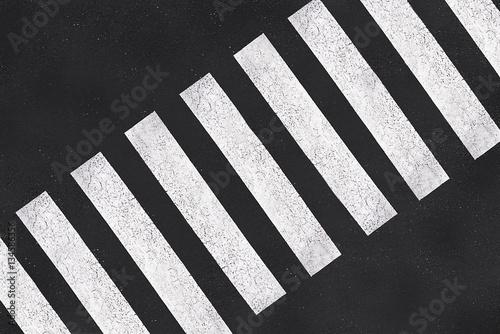 Carta da parati Pedestrian crossing, asphalt road top view