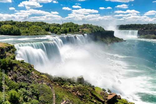 Niagara falls between United States of America and Canada. Fototapeta