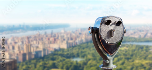 Fotografia Observation deck with coin operated binocular