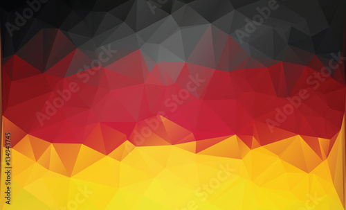 Photo Polygonal german flag.