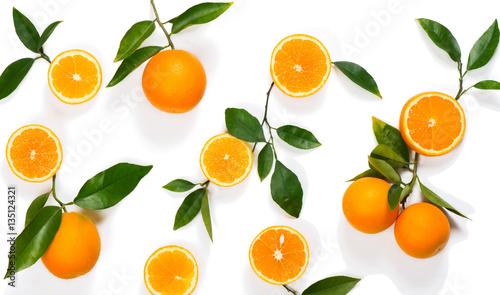 Pattern made of orange fruit.