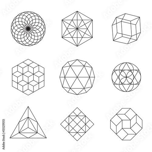 Fotografia, Obraz Geometric Shapes Set