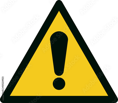 Fotografie, Obraz ISO 7010 W001 General warning sign