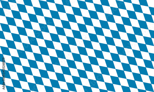 Fotografia Blue and White diamonds, Bavarian flag square, seamless, repeatable