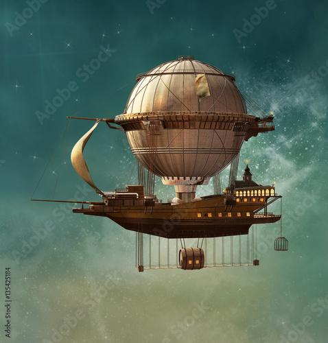 Fotografia Steampunk fantasy airship