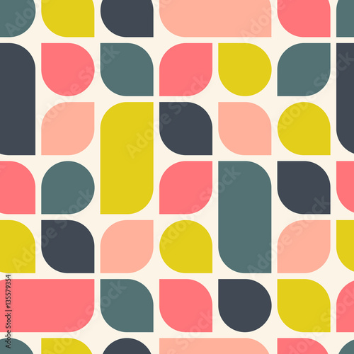 Wallpaper Mural Abstract retro geometric background