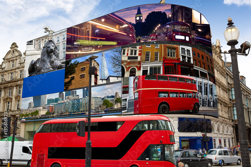 Piccadilly Circus London digital photomount фототапет