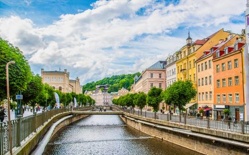 Fotografie, Obraz Karlovy Vary at Czech Republic