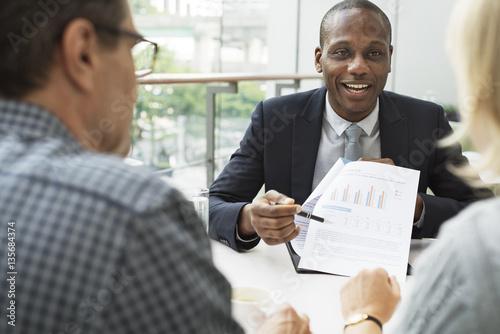 Slika na platnu Business Communication Connection People Concept