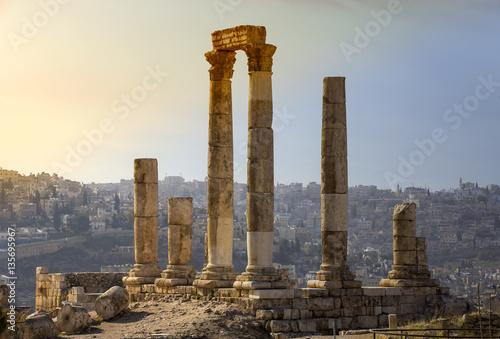 Foto Die Ruinen der alten Zitadelle in Amman, Jordanien
