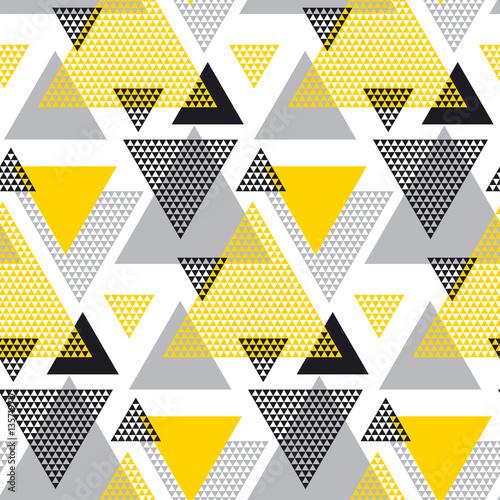 Obraz na płótnie Trójkąty w żółto czarnych barwach