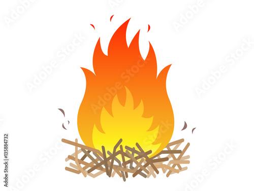 焚き火 Fototapeta